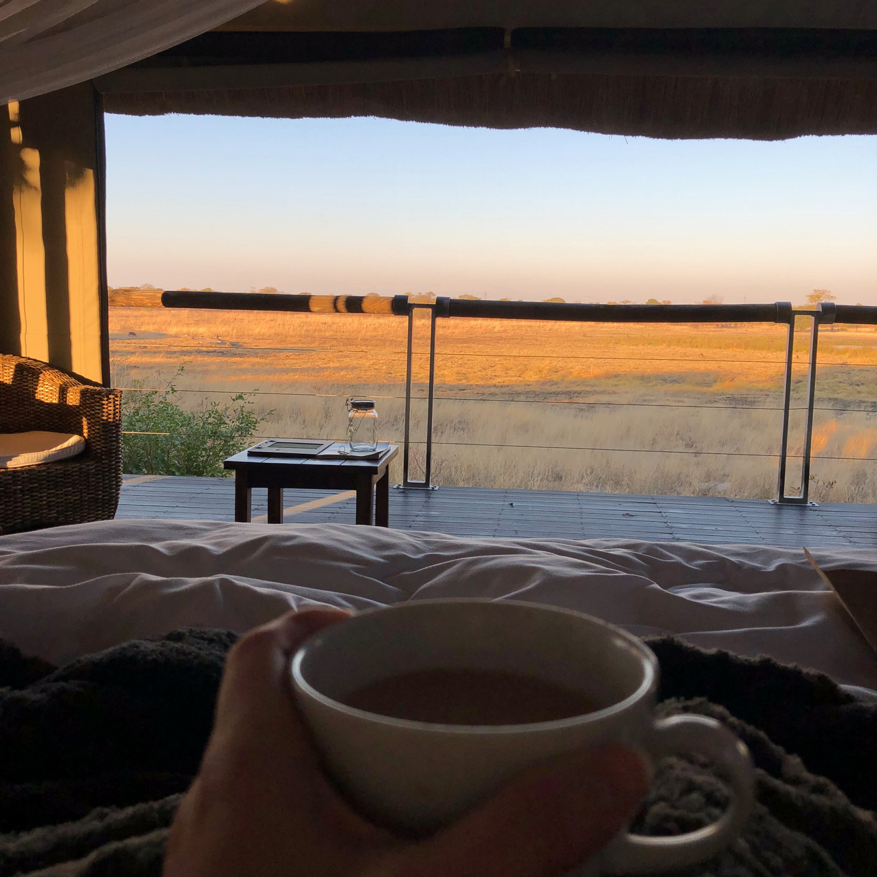 Bed views at Elephant's Eye