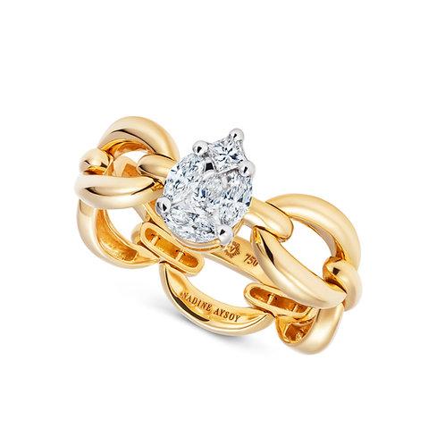 Catena Illusion Diamond & 18kt Gold Ring