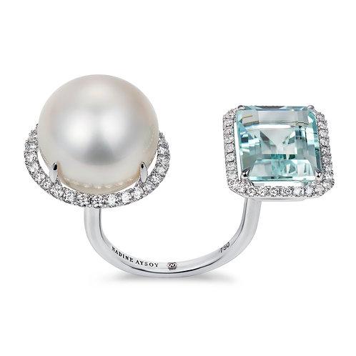 Elle et Lui Aquamarine Ring