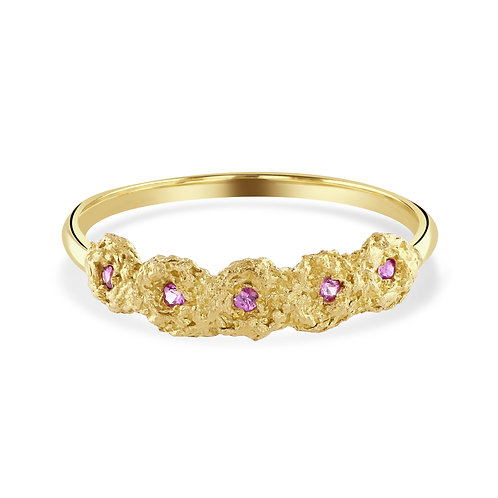 Pink Sapphire Shisha Tiara Ring