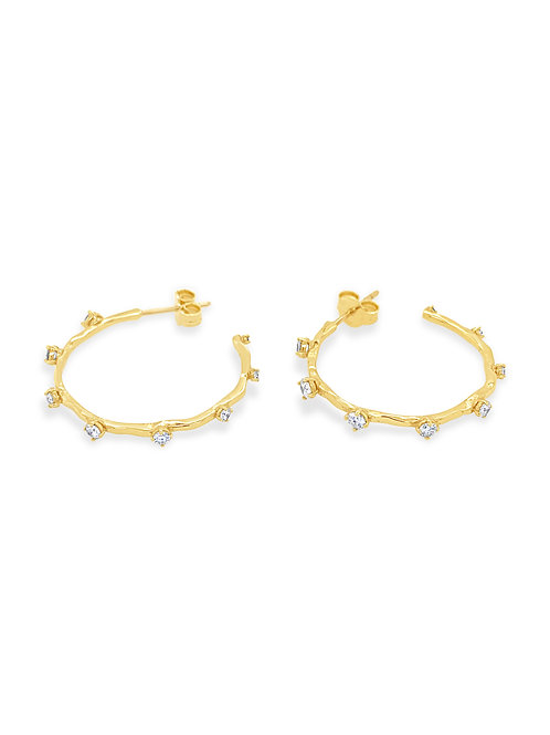 Hoop Diamond Earrings M