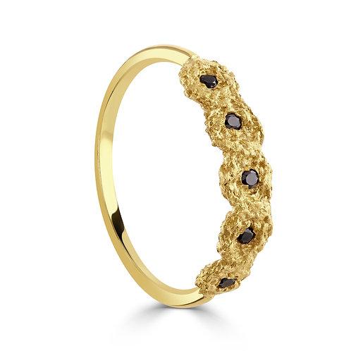 Black Diamond Shisha Tiara Ring
