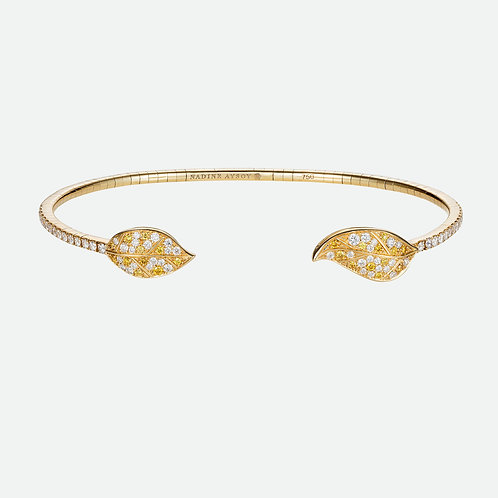 Petites Feuilles Yellow Gold Bracelet