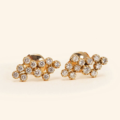 Magic Topkapi Yellow Gold Diamond Earrings