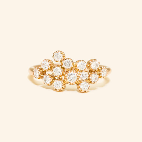 Magic Topkapi Rose Gold Diamond Ring