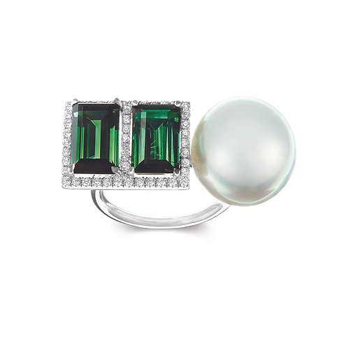 Elle et Lui Green Tourmaline Earrings
