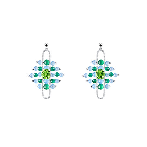 "The Impressionists Dangle Earrings- ""Veridian"" inspired by Water Lilies and the"