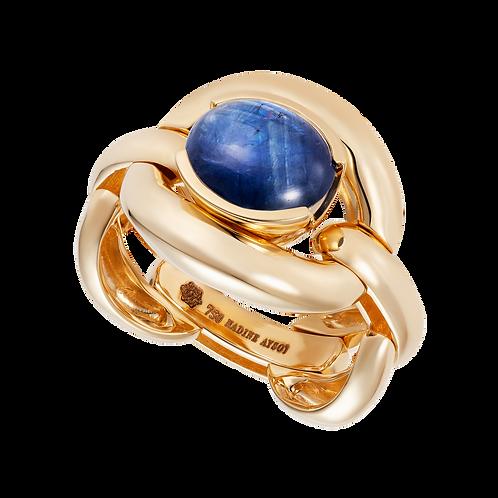 Catena Blue Sapphire Cabochon Ring