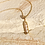 Thumbnail: Melody Chain Necklace in 18 Karat yellow Gold, Akoya Pearls