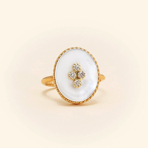 La Rose Des Alizés Mother Pearl Ring