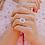 Thumbnail: Flower & Opal Sapphire Ring