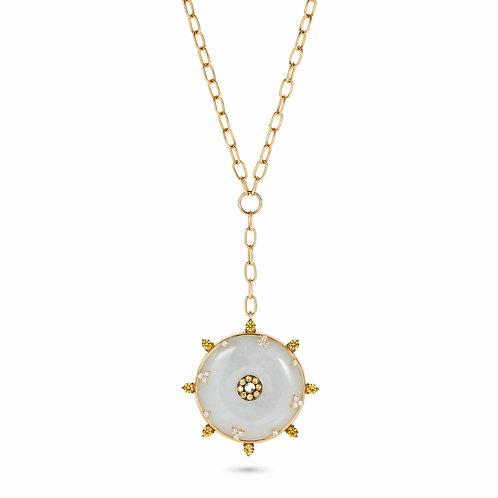 Celeste Yellow Sapphire & Jade Necklace