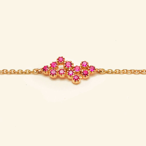 Magic Topkapi Rose Gold Ruby Bracelet