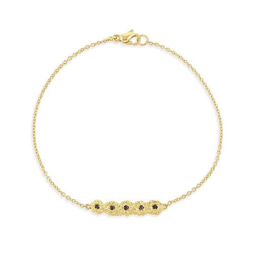 Black Diamond Shisha Line Bracelet