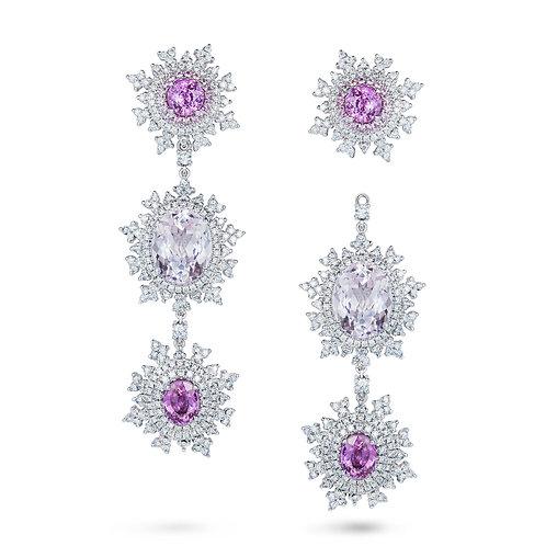Tsarina Pink Sapphire Earrings