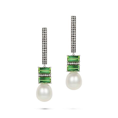 Elle et Lui Green Tourmaline Earrings
