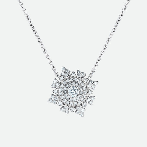 Petite Tsarina White Gold Necklace