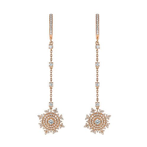 Petite Tsarina Rose Huggie Earrings