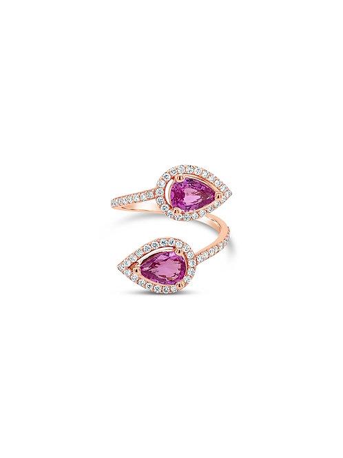Toi & Moi Sapphires Diamond Ring