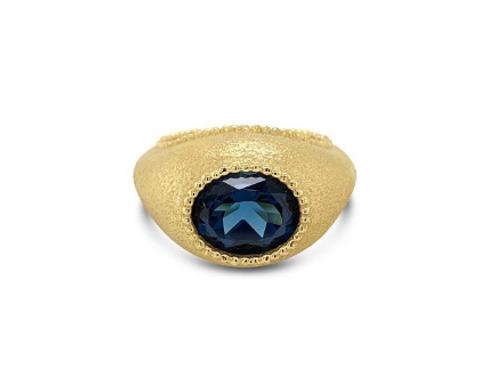 Oval Topaz Ring