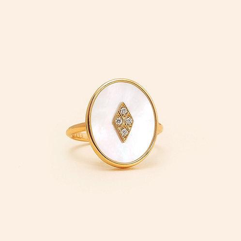 La Rose Des Alizés Mother Pearl Ring