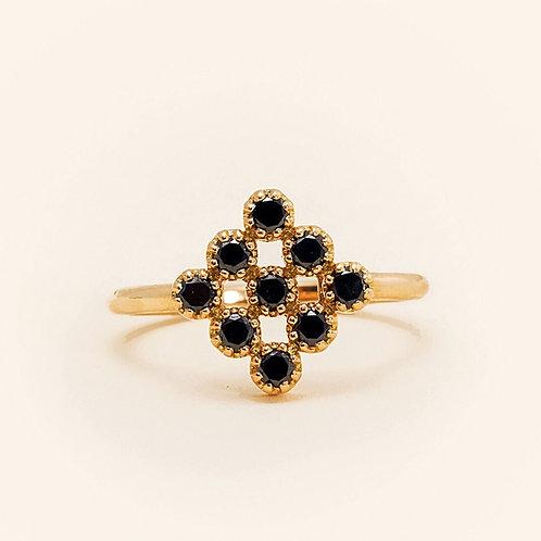 Magic Topkapi Black Diamonds Ring