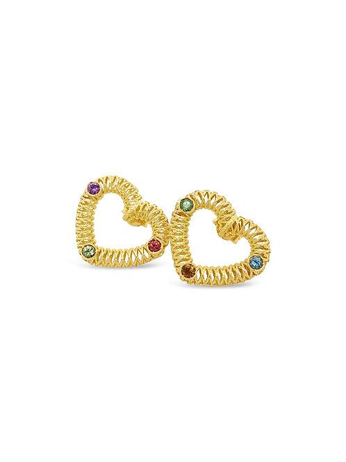 Love Coloured Stone Earrings