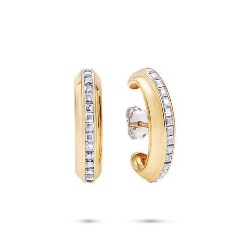Le Cercle Ear Lobe Diamond Earrings