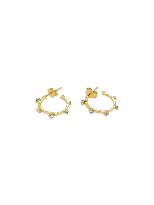 Hoop Diamond Earrings S
