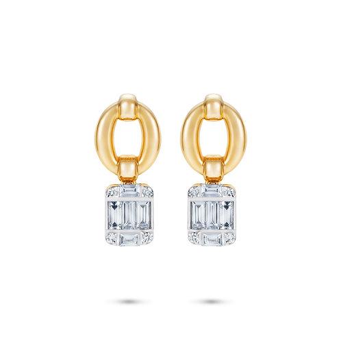 Catena Illusion Diamond & 18kt Gold Earrings