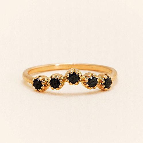 Magic Topkapi Black Diamond Ring