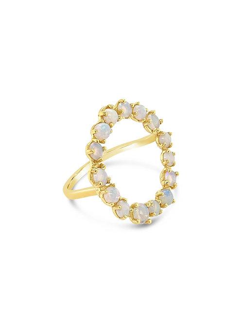 Solar Opal Ring