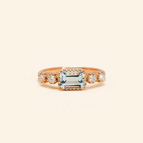 Antoinette Blue Topaz Ring