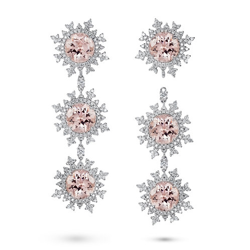 Tsarina Rose Flake Earrings