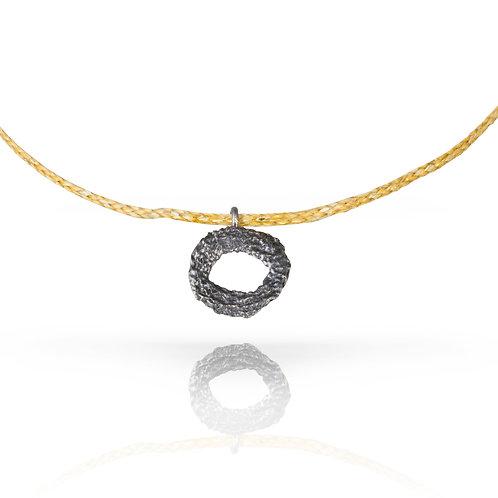 Black Mati Pendant On Gold Cord