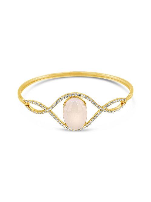 Curve & Opal Diamond Bangle