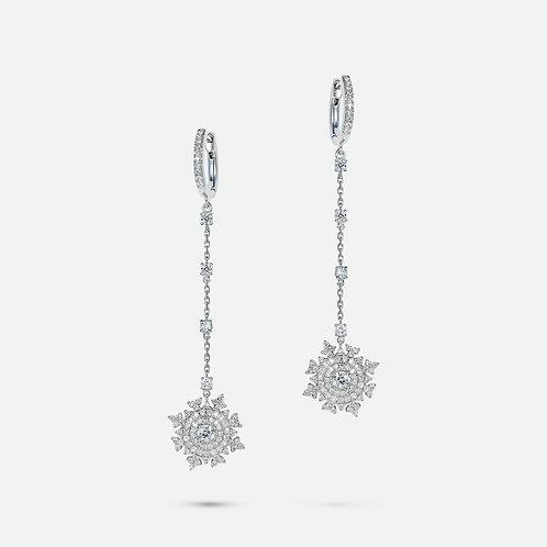 Petite Tsarina White Gold Earrings