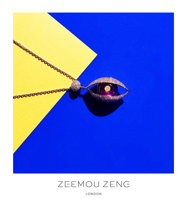 ZEEMOU ZENG-THE EYE NECKLACE 18K ROSE GO