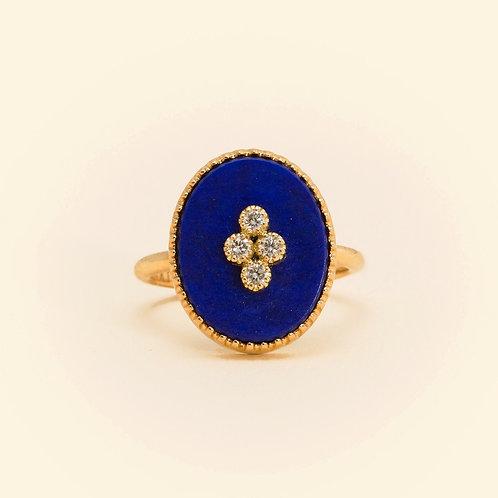La Rose Des Alizés Lapis Lazuli Ring