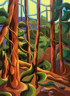 Deep Forest (first painting in series)