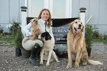 Belinda with Atticus, Marbles and Alice