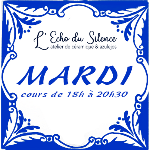 Cours d'Azulejos mardi