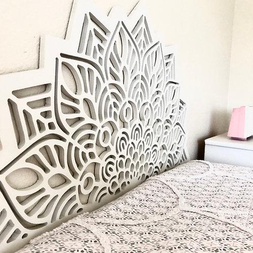 Mandala headboard | Geometric Wall headboard | Bed | Wall Design |  Unfinished |