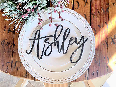 Custom METAL names | Wedding | Holiday Table | Stocking