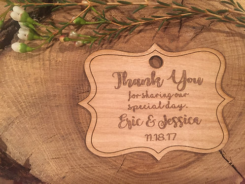 Wedding tags - Wood Thank You Favors