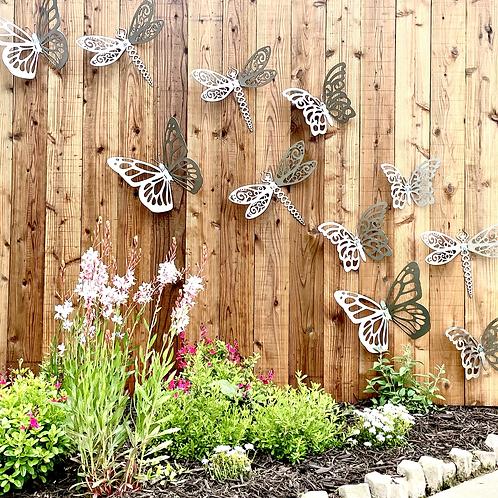 Metal Outdoor butterfly Fence Art