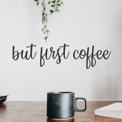 but first coffee kitchen wall sign | Kitchen Wall Decor | Farmhouse Kitchen | Co