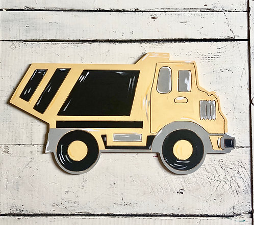 Dump truck / Paint by Line / Kid Art