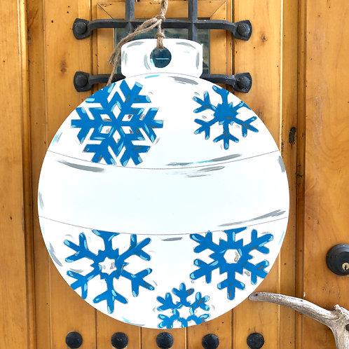 Snowflake Wooden Door Hanger  - Ornament DIY