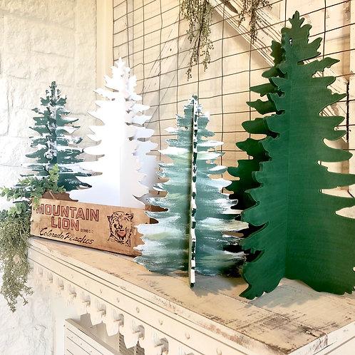 Unfinished DIY farmhouse Fir Christmas Trees